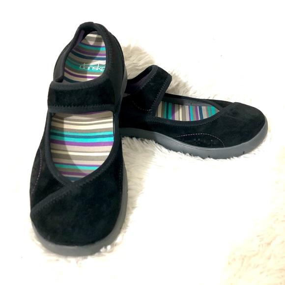 DANSKO Emmy BlackSuede Leather Mary Jane shoes 38
